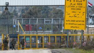 Israels Grenze zu Syrien auf den Golanhöhen