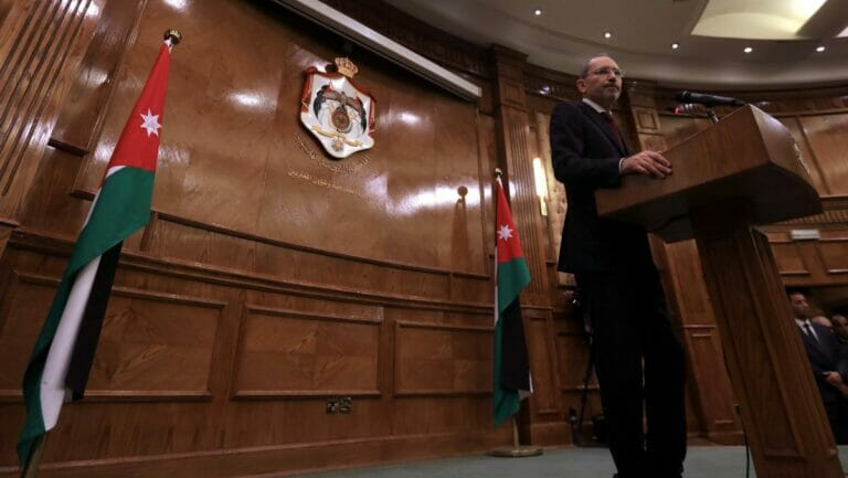 Der jordanische Außenminister Ayman Safadi