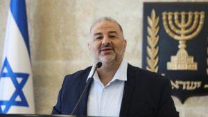 Der Vorsitzende der arabischen Partei Raʹam, Mansour Abbas
