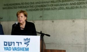 Angela Merkel wird heute eine Rede in Yad Vashem halten