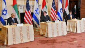 Die Außenminister Israels, der USA und der VAE trafen zu einem Gipfel in Washington zusammen