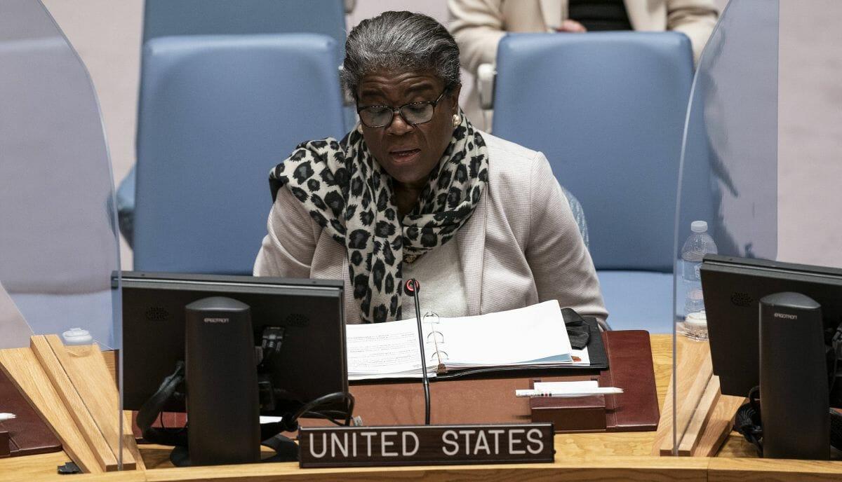 Die US-Botschafterin bei den Vereinten Nationen Linda Thomas-Greenfield